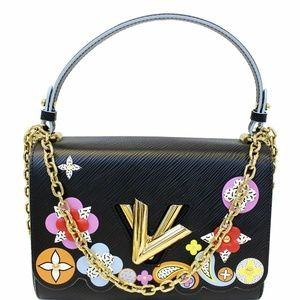 LOUIS VUITTON Flower Epi Leather Shoulder Bag